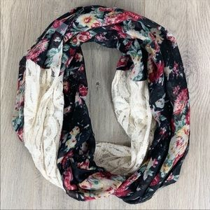 Nordstrom BP Infinity Scarf Face Covering Floral